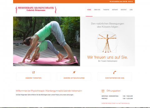 Professionelle Krankengymnastik in der Physiotherapie Heinemann in Quickborn  in Quickborn