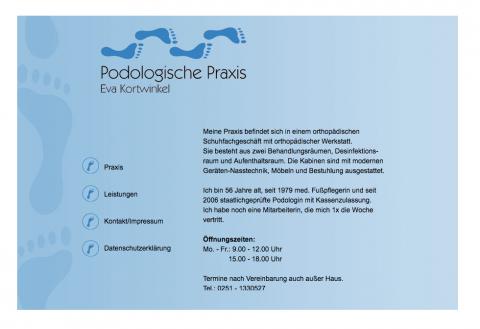 Behandlung mit der 3TO-Spange: Die Praxis für Podologie Kortwinkel in Münstera in Münster