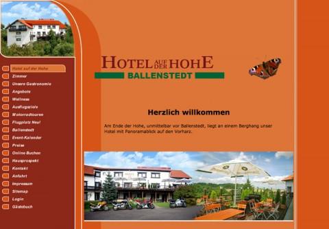 Idyllisches Hotel in Ballenstedt: Hotel auf der Hohe  in Ballenstedt