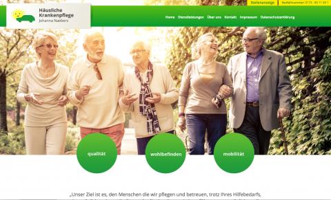 """Pflegedienst für Geldern, Veert und Pont: die """"Häusliche Krankenpflege Johanna Naebers"""" in Geldern"""