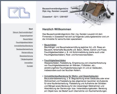 Bausachverständigenbüro Dipl.-Ing. Karsten Leupold in Düsseldorf: Ihre Kompetenz für Neubauüberwachung und Bauabnahmen in Düsseldorf
