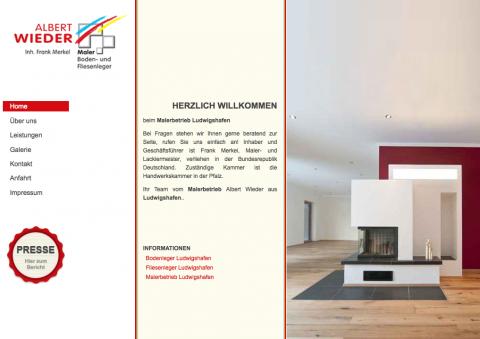 Malerarbeiten mit Tradition – Malerbetrieb Albert Wieder in Ludwigshafen in Ludwigshafen