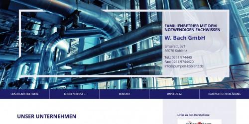 Firmenprofil von: Zuverlässiger Kundendienst von Pumpentechnik W. Bach GmbH in Koblenz