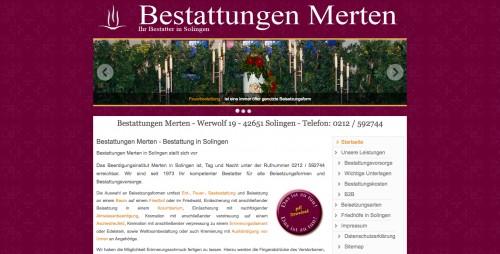 Firmenprofil von: Bestattungen Merten in Solingen: