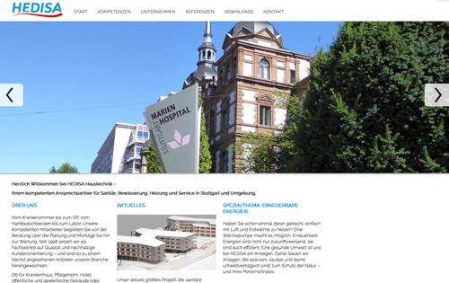 Firmenprofil von: HEDISA Haustechnik GmbH in Stuttgart