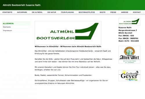 Firmenprofil von: Altmühl Bootsverleih im Altmühltal