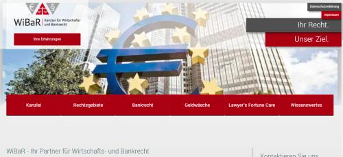 Firmenprofil von: Ihr Anwalt für alles rund um Bankgebühren: Kanzlei für Wirtschafts- und Bankrecht