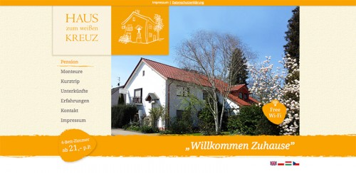 Firmenprofil von: Cozy hotel near Cologne: Haus zum weißen Kreuz