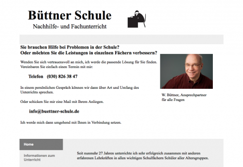 Firmenprofil von: Büttner Schule in Berlin- Wilmersdorf
