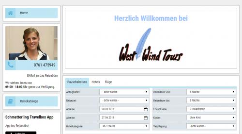 Firmenprofil von: Reisebüro West Wind Tours in Freiburg: Individualurlaub und Pauschalreisen