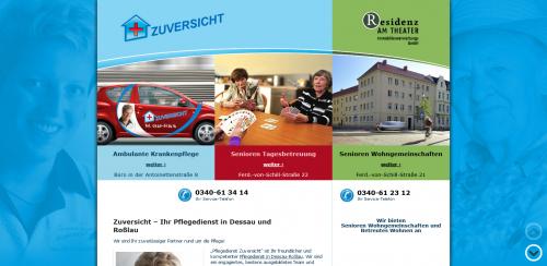 Firmenprofil von: Individuelle Senioren-Gemeinschaften – Ambulante Krankenpflege ZUVERSICHT GmbH in Dessau-Roßlau