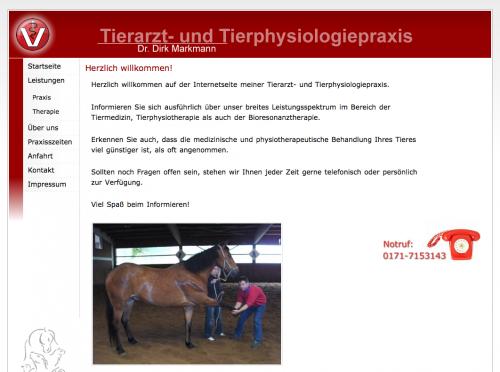 Firmenprofil von: Tierarzt- und Tierphysiologiepraxis M. Markmann