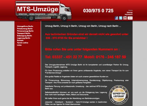 Firmenprofil von: MTS - Umzüge - Berlin