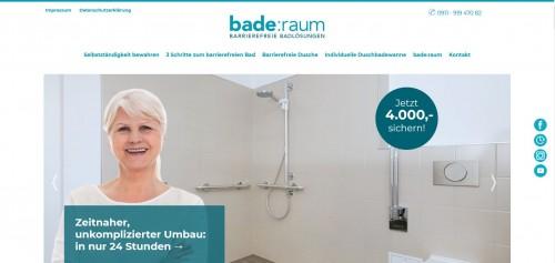 Firmenprofil von: bade:raum autark UG: Barrierefreies Bad in 24 Stunden