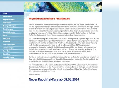 Firmenprofil von: Psychotherapeutische Privatpraxis Dipl. Psych. Rainer Heike in Troisdorf
