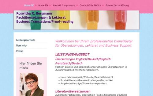 Firmenprofil von: Fachlich einwandfreie Übersetzungen in Ottobrunn: Roswitha Bergmann hat das linguistische Feingefühl