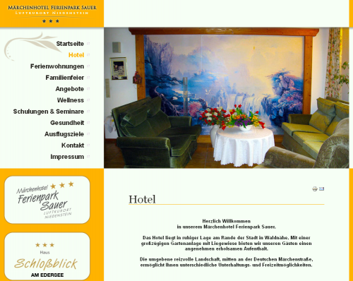 Firmenprofil von: Märchenhotel und Ferienwohnungen Ferienpark Sauer – Ihr Hotel in Niedenstein