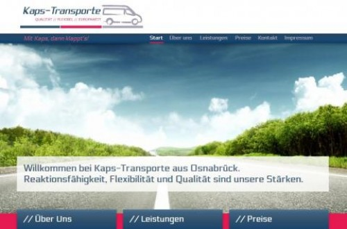 Firmenprofil von: Schneller Transport bei Kaps in Osnabrück