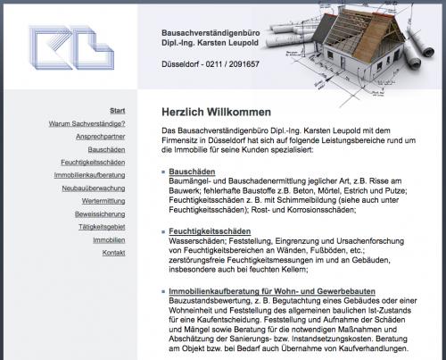 Firmenprofil von: Bausachverständigenbüro Dipl.-Ing. Karsten Leupold in Düsseldorf: Ihre Kompetenz für Neubauüberwachung und Bauabnahmen