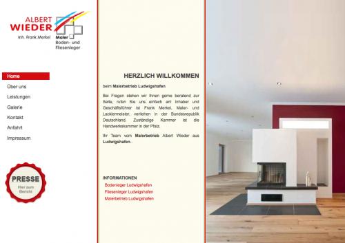 Firmenprofil von: Malerarbeiten mit Tradition – Malerbetrieb Albert Wieder in Ludwigshafen