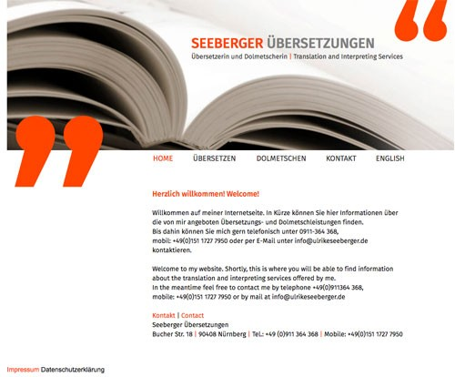 Firmenprofil von: Übersetzerin und Dolmetscherin in Nürnberg
