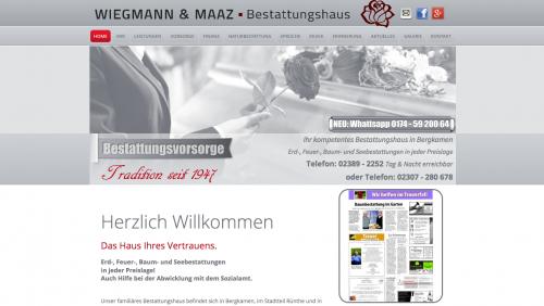 Firmenprofil von: Entlastung der Bestattungskosten mit Wiegmann & Maaz Bestattungshaus in Bergkamen